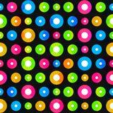 Music circle seamless pattern Stock Photo