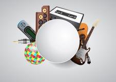 Music circular blank Royalty Free Stock Image