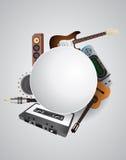Music circular blank Stock Images
