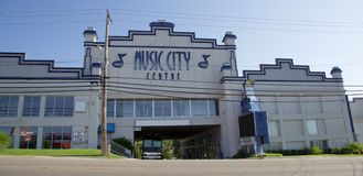 Music City Center, Branson Missouri. Featuring some of the best shows in Branson, the Music City Center is a great place for anyone visiting Branson to see Royalty Free Stock Photo