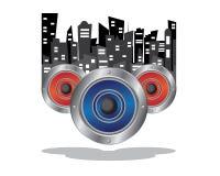 Music city illustration. Music city world illustration design Royalty Free Stock Photography