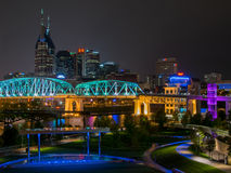 Music City Nightscape Royalty Free Stock Images