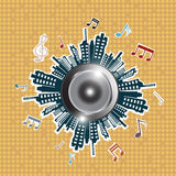 Music in the city Stock Photos
