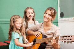 Music class in the kindergarden Stock Photo