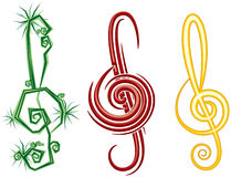 Music clef Royalty Free Stock Photography