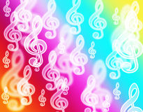 Music clef bokeh Royalty Free Stock Image