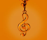 Music clef, colorful vibrant concept Stock Photography
