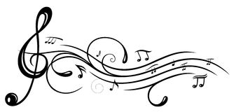 Music, clef Royalty Free Stock Image