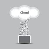 Music cloud computing concept. Illustration Royalty Free Stock Images