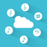 Music cloud Royalty Free Stock Photos
