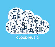 Music cloud Stock Image