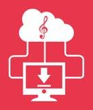 Music cloud Stock Photos