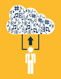 Music cloud. Design, vector illustration eps10 graphic Royalty Free Stock Photos