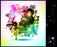 Music Club background for disco dance  flyer Royalty Free Stock Photography