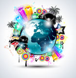 Music Club background for disco dance internationa Stock Images