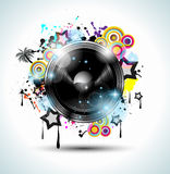 Music Club background for disco  flyer Stock Image