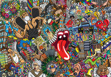 Music collage Stock Photo