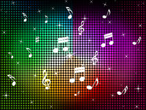 Music Color Background Means Jazz Classical And Notes Royalty Free Stock Photography