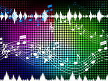 Music Color Background Shows Sounds Harmony And Singing Stock Images