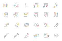 Music Colored Outline Vector Icons 2 Royalty Free Stock Image