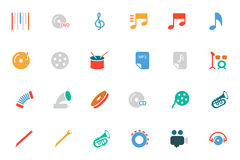 Music Colored Vector Icons 2. Get ready for your next project with the Music Icons Vector! You will find that these Icons to use for multimedia and musical Royalty Free Stock Photo