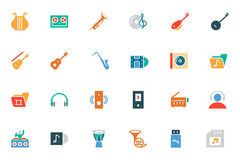 Music Colored Vector Icons 3 Stock Photos