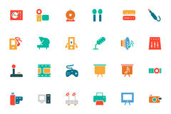 Music Colored Vector Icons 4 Royalty Free Stock Photos
