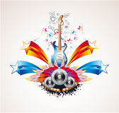 Music Colorful Abstract Background Stock Image