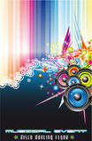 Music Colorful Background for Flyers Royalty Free Stock Photo