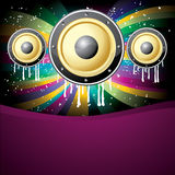 Music colorful disco illustration. Cool music colorful disco background  illustration Royalty Free Stock Photos