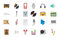 Music colorful icons set Royalty Free Stock Image