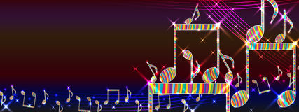 Music colorful platform banner Royalty Free Stock Photos