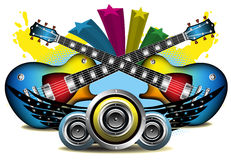 Music in colors Royalty Free Stock Image