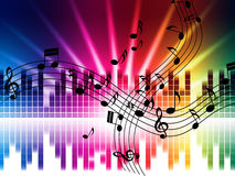 Music Colors Background Means Singing Playing Or Disco Royalty Free Stock Photo