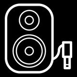 Music column audio speakers icon. Stereo music sound system cinema column. Stock Photography