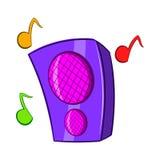 Music Column Icon, Cartoon Style Stock Photos