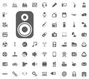 Music column icon. Media, Music and Communication vector illustration icon set. Set of universal icons. Set of 64 icons.  Stock Image