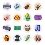 Music comics icons Royalty Free Stock Photography