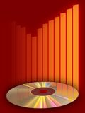 Music compact disc. CD and equalizer background. Digital illustration stock illustration