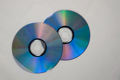 Music compact disc or cd dvd vcd blueray Stock Images