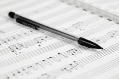 Music Composition by Hand Stock Images
