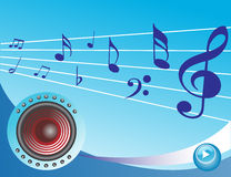 Music composition, Speaker on musical background Stock Images