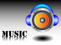 Music concept. Modern music concept -  illustration Royalty Free Stock Photos