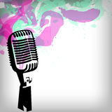 Music concept background, microphone Royalty Free Stock Images