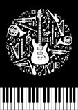 Music concept circle Royalty Free Stock Images