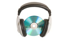 Music concept, headphone and cd Stock Images