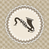 Music concept with Saxophone. Royalty Free Stock Photos