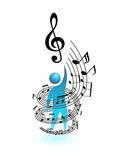Music concept vector people Royalty Free Stock Photo