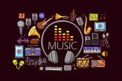 Music concept for web design template Stock Image