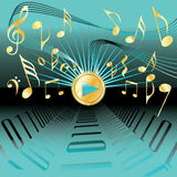 Music conceptional abstract background Stock Photography